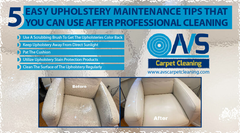Easy Upholstery Maintenance Tips After A Professional Upholstery Cleaning